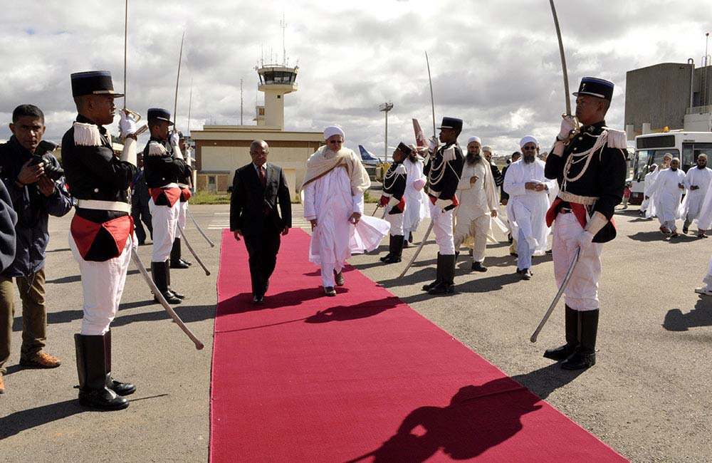 Syedna inspects a Guard of Honour in Madagascar